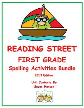 Reading Street First Grade Spelling Units Bundle (2013)