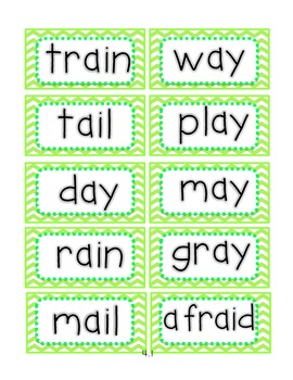 Reading Street First Grade Spelling Word Cards (Colored by Unit)