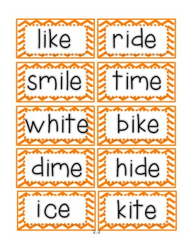 Reading Street First Grade Spelling Word Cards (For all 5 Units)