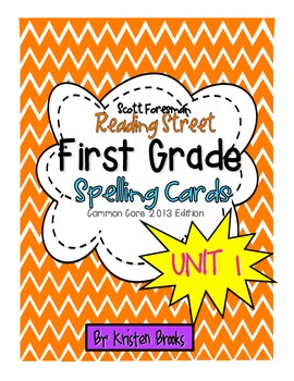 Reading Street First Grade Spelling Word Cards (Unit 1)