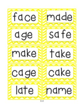 Reading Street First Grade Spelling Word Cards (Unit 2)