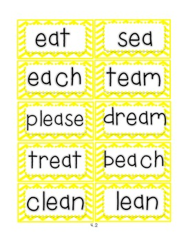 Reading Street First Grade Spelling Word Cards (Unit 4)