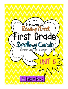 Reading Street First Grade Spelling Word Cards (Unit 5)