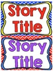 Reading Street First Grade Story Title Headers for Focus Wall (Primary Colors)