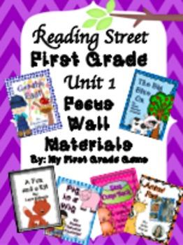 Reading Street First Grade Unit 1 Focus Wall Pack
