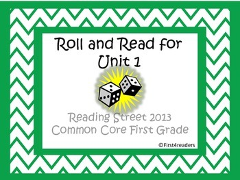 Reading Street First Grade Unit 1 Roll and Read