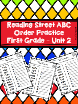 Reading Street First Grade ABC Order - Unit 2