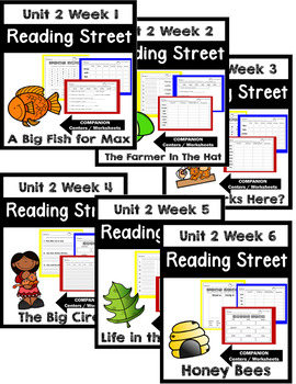 Reading Street. First Grade. Unit 2 Bundle Centers/Worksheets