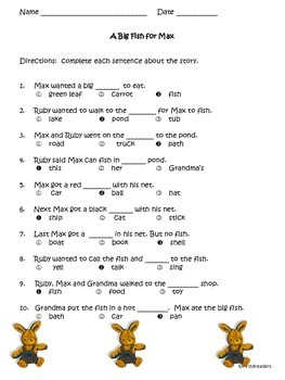 Reading Street First Grade Unit 2 Comprehension Sheets