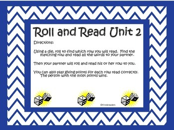 Reading Street First Grade Unit 2 Roll and Read