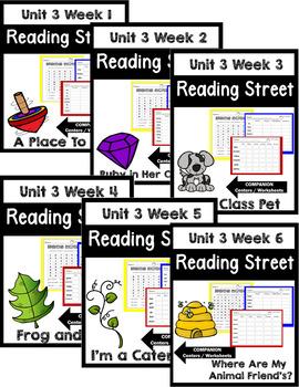 Reading Street. First Grade. Unit 3 Bundle Centers/Worksheets