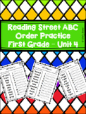 Reading Street First Grade ABC Order - Unit 4