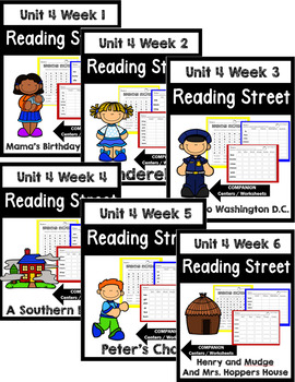 Reading Street. First Grade. Unit 4 Bundle Centers/Worksheets