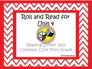 Reading Street First Grade Unit 4 Roll and Read