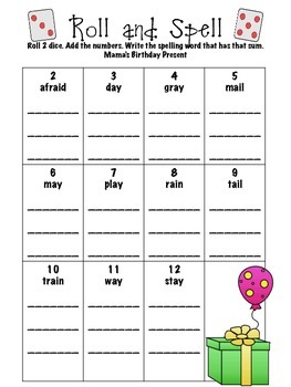 Reading Street First Grade Unit 4 Spelling Practice Pack