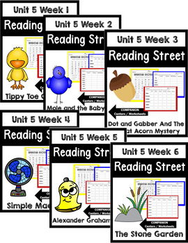 Reading Street. First Grade. Unit 5 Bundle Centers/Worksheets