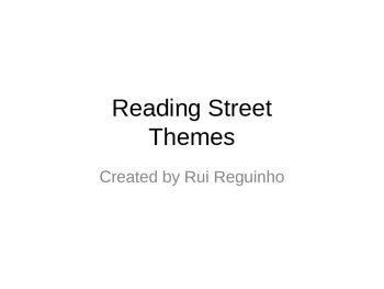 Reading Street - First Grade Units & Themes