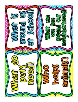 Reading Street First Grade Weekly Question Posters (Bright Colors)