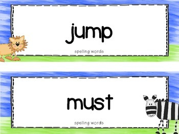 "Reading Street First Grade Word Cards FREEBIE  ""Animal Park"""
