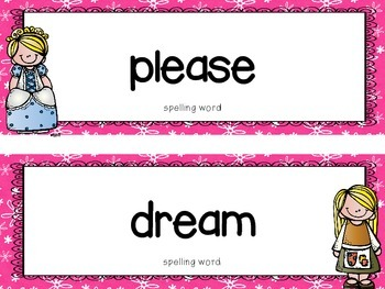 "Reading Street First Grade Word Cards FREEBIE  ""Cinderella"""