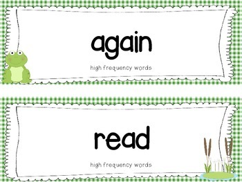 "Reading Street First Grade Word Cards FREEBIE  ""Frog and Toad Together"""