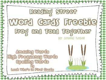 "Reading Street First Grade Word Cards FREEBIE  ""Frog and T"