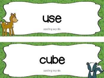 """Reading Street First Grade Word Cards FREEBIE  """"Life in the Forest"""""""
