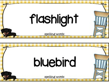 """Reading Street First Grade Word Cards FREEBIE  """"Peter's Chair"""""""