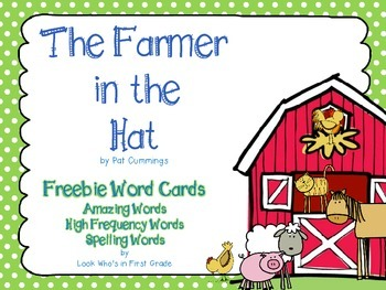"Reading Street First Grade Word Cards FREEBIE  ""The Farmer in the Hat"""