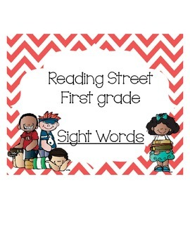 Reading Street First grade Sight Word cards by Teaching is Colorful