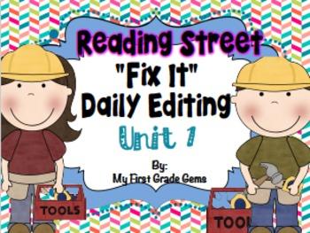 "Reading Street ""Fix It"" Editing Grade One/Unit 1"