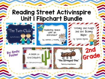 Reading Street Flipcharts Common Core Second Grade Unit 1 Weeks 1-5 BUNDLE!!
