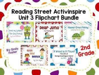 Reading Street Flipcharts Common Core Second Grade Unit 3 Weeks 1-5 BUNDLE!!