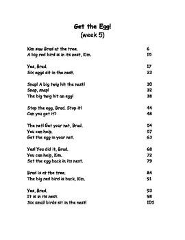 Reading Street Fluency Passages: 1st grade Unit 1