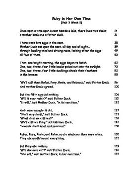 Reading Street Fluency Passages: 1st grade Unit 3