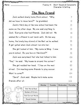 Reading Street Fluency Passages - Unit 1 Second Grade