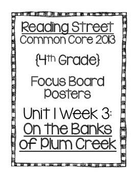 Reading Street Focus Board Posters: 4th Grade Unit 1 Week 3 {INK SAVERS}