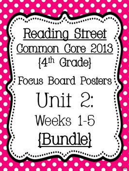 Reading Street Focus Board Posters: 4th Grade Unit 2 Weeks