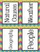 Reading Street Focus Board Posters: 4th Grade Unit 3 Weeks 1-5: {Chevron}