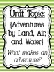 Reading Street Focus Board Posters: 4th Grade Unit 5 Weeks 1-5: {Green Stripes}