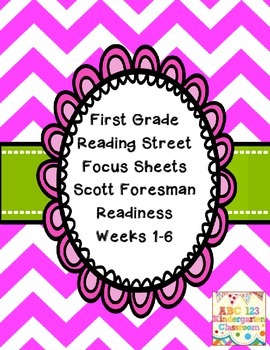 Reading Street Focus Sheets First Grade Readiness Unit 2013