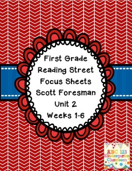 Reading Street Focus Sheets First Grade  Unit  2 Weeks 1-6