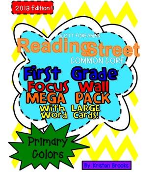 Reading Street Focus Wall BUNDLED MEGA PACK  (First Grade) (LARGE CARDS)