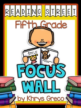 Reading Street Focus Wall - Fifth Grade - EDITABLE {Entire Year-Over 380 Pages}