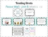 Reading Street Focus Wall- Fourth Grade- Unit 5