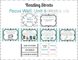 Reading Street Focus Wall- Fourth Grade- Unit 6