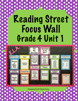 Reading Street Focus Wall Grade 4 Unit 1