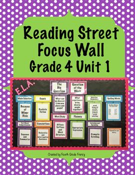 Reading Street Focus Wall Grade 4 Unit 1