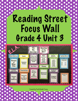 Reading Street Focus Wall Grade 4 Unit 3