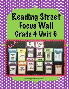 Reading Street Focus Wall Grade 4 Unit 6